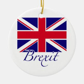 Brexit 1 round ceramic ornament