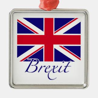 Brexit 1 Silver-Colored square ornament