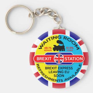 Brexit Basic Round Button Keychain