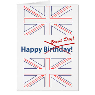 Brexit British Flag Card