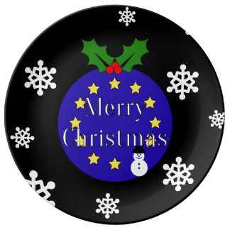 Brexit Christmas Plate