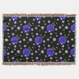 Brexit Christmas Throw Blanket