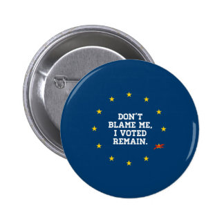 BREXIT - Don't Blame Me I voted Remain - -  2 Inch Round Button