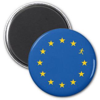 Brexit EU flag 2 Inch Round Magnet