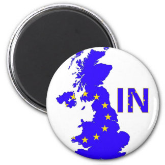 "BREXIT ""IN"" UNION JACK 2 INCH ROUND MAGNET"