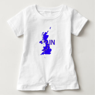 """BREXIT """"IN"""" UNION JACK BABY ROMPER"""