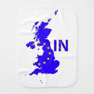 "BREXIT ""IN"" UNION JACK BURP CLOTH"