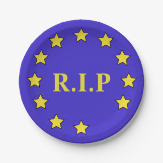 Brexit-Inspired Paper Plate
