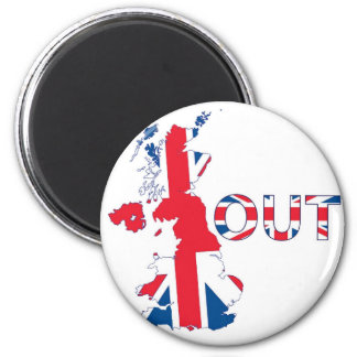 BREXIT OUT UNION JACK 2 INCH ROUND MAGNET