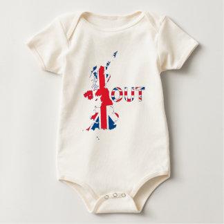 BREXIT OUT UNION JACK BABY BODYSUIT