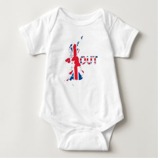 BREXIT OUT UNION JACK BABY BODYSUIT