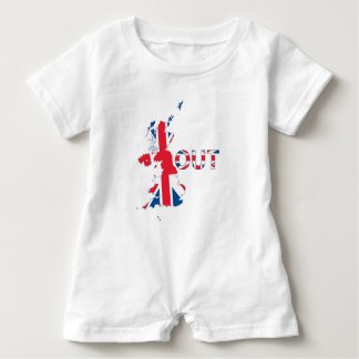 BREXIT OUT UNION JACK BABY ROMPER