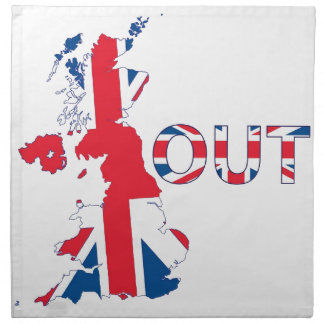 BREXIT OUT UNION JACK NAPKIN