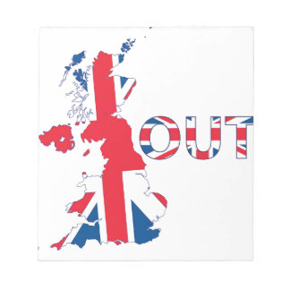 BREXIT OUT UNION JACK NOTEPAD
