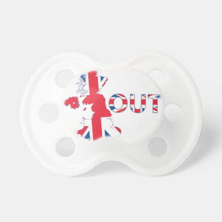 BREXIT OUT UNION JACK PACIFIER
