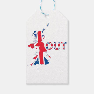 BREXIT OUT UNION JACK PACK OF GIFT TAGS