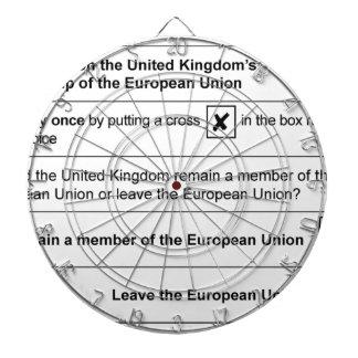 Brexit referendum in UK Dartboard