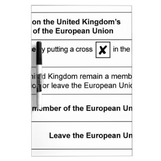 Brexit referendum in UK Dry Erase Board