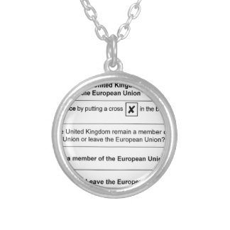 Brexit referendum in UK Silver Plated Necklace