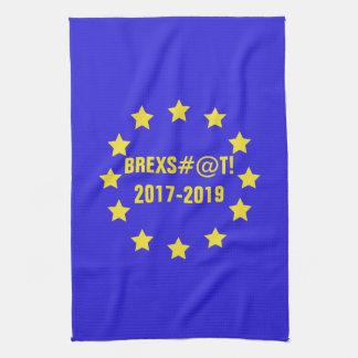 Brexs#@t 2017-2019 EU Flag/Brexit Tea Towel