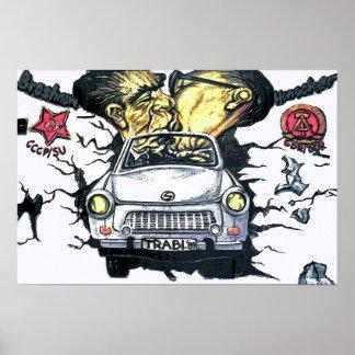 Brezhnev & Honecker, Trabant Car , Berlin (pst) Poster