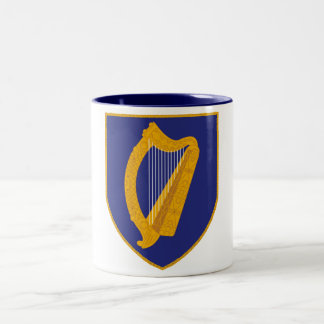 Brian Boru Harp - Symbol of Ireland Two-Tone Coffee Mug