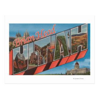 Brian Head, Utah - Large Letter Scenes Postcard