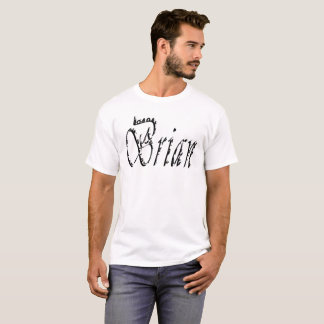 Brian, Name, Logo, T-Shirt