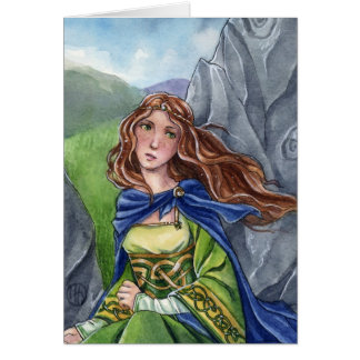 Briana Celtic fantasy maiden card