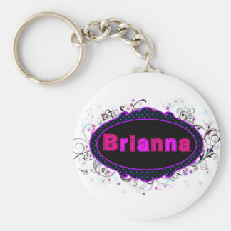 Brianna Nameplate Keychain