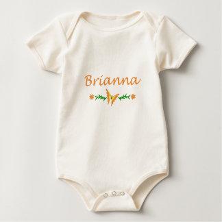 Brianna (Orange Butterfly) Baby Bodysuit