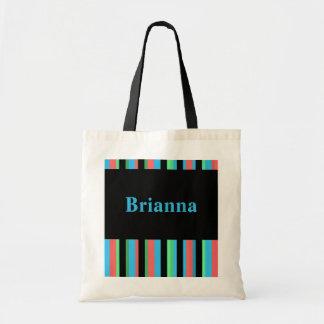 Brianna Pretty Striped Tote Bag