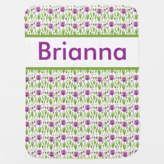 Brianna's Personalized Iris Blanket Stroller Blanket