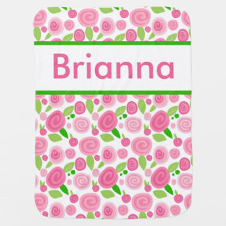 Brianna's Personalized Rose Blanket Baby Blankets