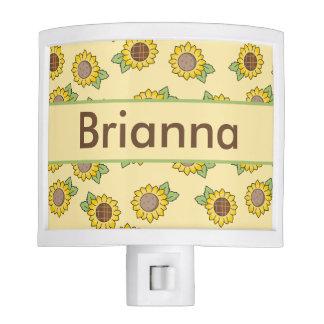 Brianna's Personalized Sunflower  Night Light
