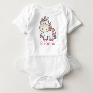 Brianna's Personalized Unicorn Gifts Baby Bodysuit
