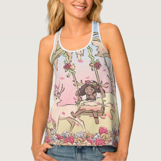 Briar Fawn in a Rose Forest Tank Top