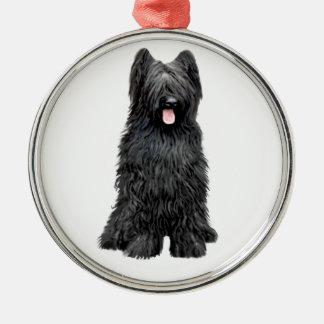 Briard (A) - black Metal Ornament
