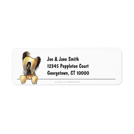 Briard Clean and Simple Return Address Label