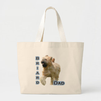 Briard Dad 4 Jumbo Tote Bag