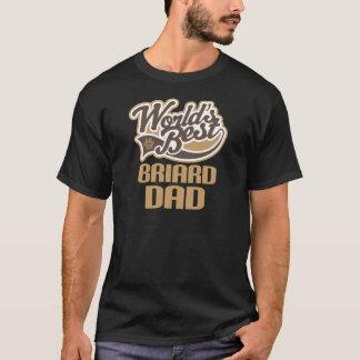 Briard Dad (Worlds Best) T-Shirt