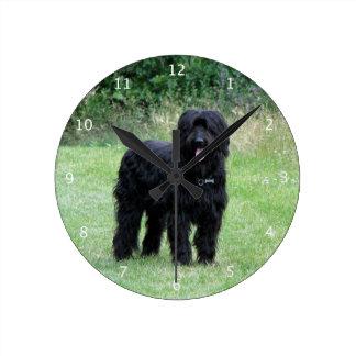 Briard dog beautiful photo round clock
