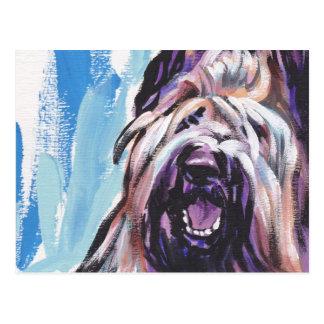 Briard Dog fun bright pop art Postcard