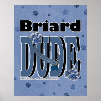 Briard DUDE Poster