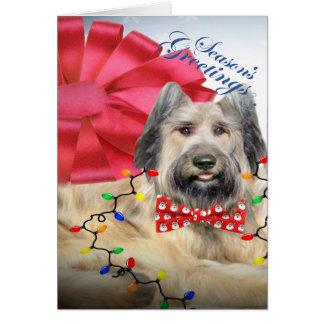 Briard Merry Christmas Cards