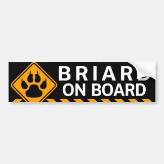 Briard On Board Bumper Sticker