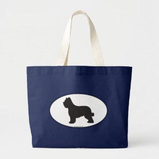 Briard Silhouette Large Tote Bag