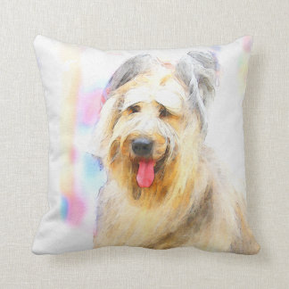 Briard Throw Pillow