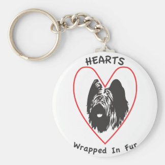 Briards are Hearts wrapped in fur Keychain