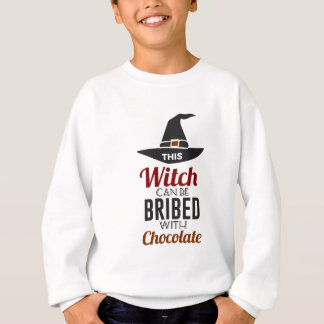 Bribe Witch With Chocolate Candy Trick Or Treat Ha Sweatshirt